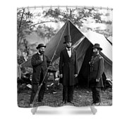 President Lincoln Meets With Generals After Victory At Antietam Shower Curtain