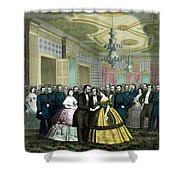 President Lincoln's Last Reception Shower Curtain