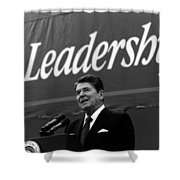 President Ronald Reagan Leadership Photo Shower Curtain