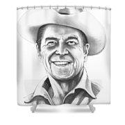 President Ronald Regan Shower Curtain