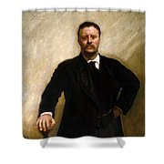 President Theodore Roosevelt Painting Shower Curtain