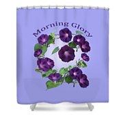 President Tyler Morning Glory Shower Curtain