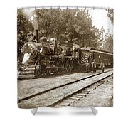 President William Mckinleys Presidential Locomotive No. 1456  May 1901 Shower Curtain