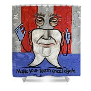 Presidential Tooth 2 Shower Curtain by Anthony Falbo