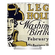 Presidents Day Vintage Poster Shower Curtain