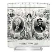 Presidents Washington And Lincoln Shower Curtain