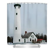 Presque Isle Lighthouse Shower Curtain