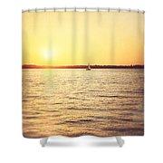 Presque Isle Sunset Shower Curtain