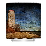 Presquile Lighthouse Shower Curtain