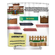 Preston Hollow Fence Shower Curtain