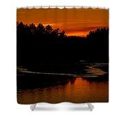 Presumpscot Sunset No.101 Shower Curtain