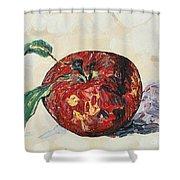 Pretty Apple Shower Curtain