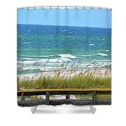 Pretty Blue Gulf Shower Curtain