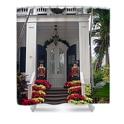 Pretty Christmas Decoration In Key West Shower Curtain