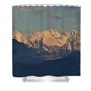Pretty Countyside In Italy With Huge Mountains  Shower Curtain