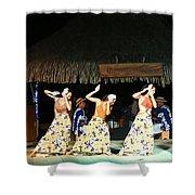 Pretty Dancers In Tahiti Shower Curtain