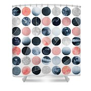 Pretty Dots Shower Curtain by Elisabeth Fredriksson