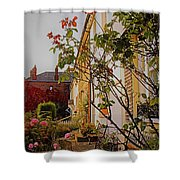 Pretty English Cottage  Shower Curtain