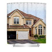 Pretty House Shower Curtain