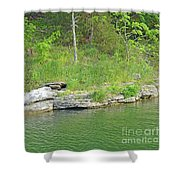Pretty In Green Shower Curtain