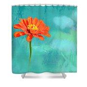 Pretty In Orange Shower Curtain