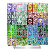 Pretty Kitties Pop Art Shower Curtain