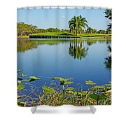 Tranquil Lake In Florida Shower Curtain