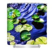 Pretty Lily Pads Shower Curtain