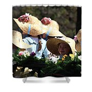 Pretty Little Flower Girls Shower Curtain