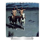 Pretty Mother Of The Night White Otter Is No Longer A Boy 1900 Shower Curtain