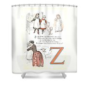 Pretty Name Abc Letter Z Shower Curtain