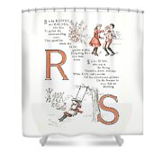 Pretty Name Abc R And S Shower Curtain