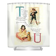 Pretty Name Abc T And U Shower Curtain