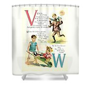 Pretty Name Abc V And W Shower Curtain