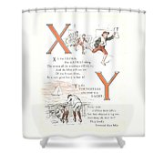 Pretty Name Abc X And Y Shower Curtain