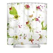 Pretty Pear Petals Shower Curtain