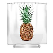 Pretty Pineapple Shower Curtain