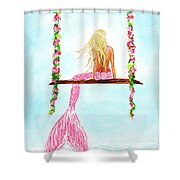 Pretty Pink Swing Shower Curtain