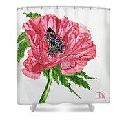 Pretty Poppy Shower Curtain