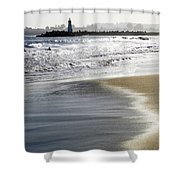Pretty Sand Shower Curtain