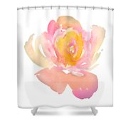 Pretty Watercolor Flower Shower Curtain