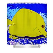 Pretty Yellow Fish Shower Curtain