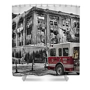 Pride, Commitment, And Service -after The Fire Shower Curtain