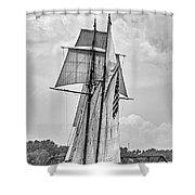 Pride Of Baltimore 3 B-w Shower Curtain