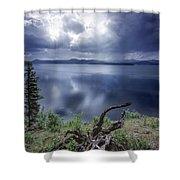 Priest Lake Light Shower Curtain