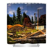 Priest Lake Mill Shower Curtain