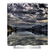 Priest River Panorama 3 Shower Curtain
