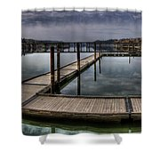 Priest River Panorama 4 Shower Curtain