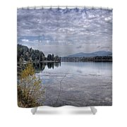 Priest River Panorama 8 Shower Curtain