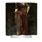 Priestess Of Delphi Shower Curtain